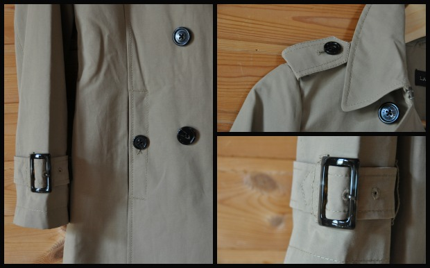 Harbor Trench Coat Collage