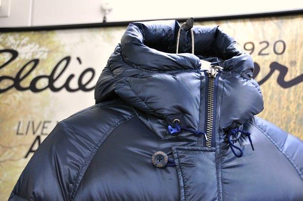 ダウンジャケットメンズコート型北海道冬旅行かっこいいアウターエディバウアー
