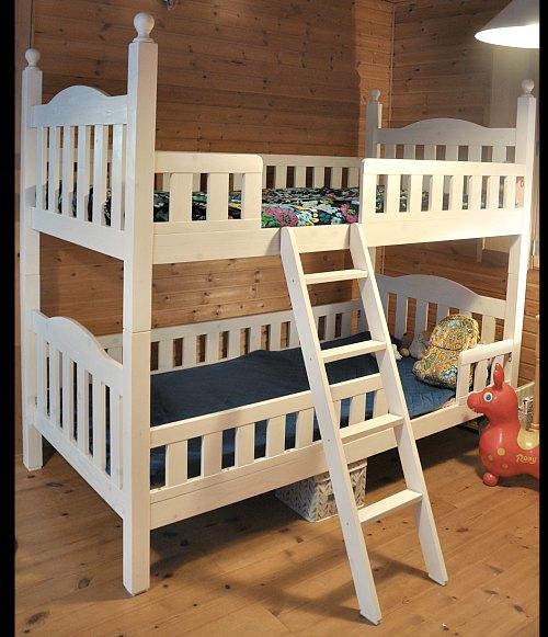 二段ベッド狭い部屋コンパクト姫系ホワイト家具ディノスオンラインで