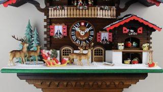 鳩時計スイス製【Loetscher】レッチャー社オシャレな新築祝いプレゼント